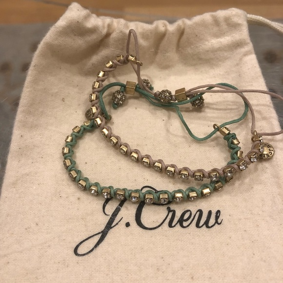 J. Crew Jewelry - 💥J.CREW BUNDLE OF CRYSTAL ADJUSTABLE BRACELETS